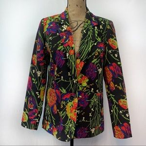 Vintage Norm Thompson Floral Blazer Size Small